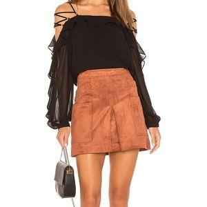 BCBGMaxAzria Corinne Faux Leather Mini Skirt XS
